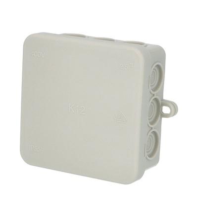 FAMATEL Krabice K12 IP54 rozbočovací, s naklapávacím víčkem, 85x85x40mm 5002