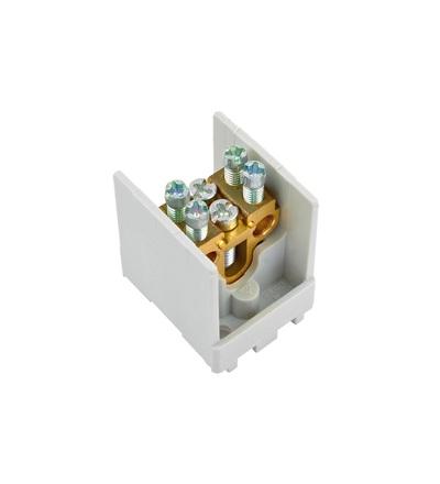 Svorkovnice stoupací HAK/1/25, nekrytá, 80A, 1pól., 1x25mm2 a 2x16mm2, na DIN, ELEMAN 515