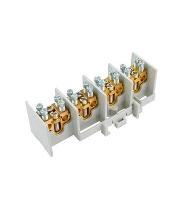 Svorkovnice stoupací HAK/4/25, nekrytá, 80A, 4pól., každý pól 1x25mm2 a 2x16mm2, na DIN, ELEMAN 517
