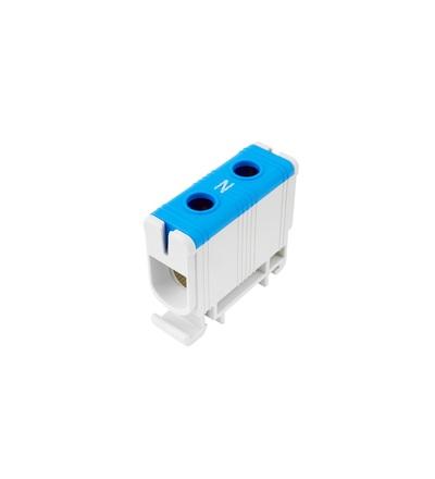 Svorka univerzální UK 50/1 N, 160A, 1pól., AL/CU, krytá, modrá, na DIN, ELEMAN 6611