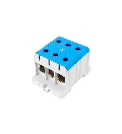 Svorka univerzální UK 95/3 N, 245A, 1pól., AL/CU, krytá, modrá, na DIN /2090308, ELEMAN 6626