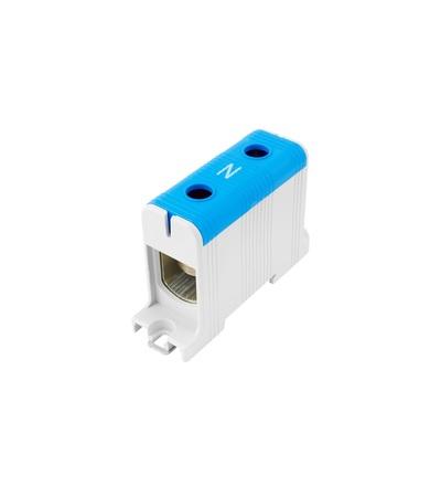 Svorka univerzální UK 150/1 N, 320A, 1pól., AL/CU, krytá, modrá, na DIN, ELEMAN 6629