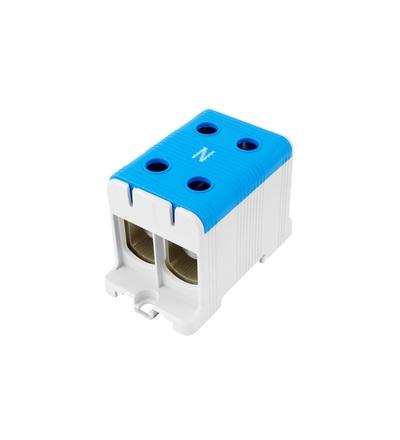 Svorka univerzální UK 150/2 N, 320A, 1pól., AL/CU, krytá, modrá, na DIN, ELEMAN 6632
