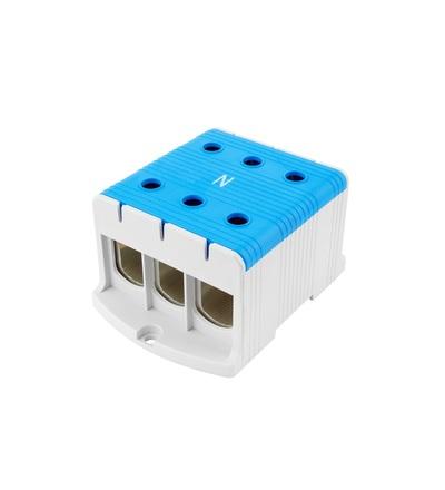 Svorka univerzální UK 240/3 N, 425A, 1pól., AL/CU, krytá, modrá, na DIN/panel /2090314, ELEMAN 6645