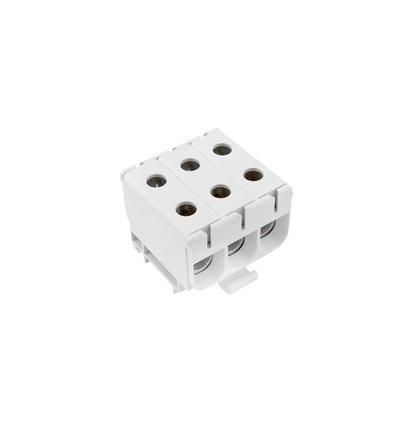 Svorka univerzální UK 50/3x1 A, 160A, 3pól., AL/CU, krytá, šedá, na DIN, ELEMAN 6647 (5 ks)