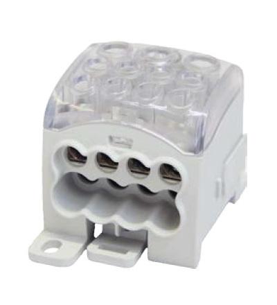 Blok pro rozdělení fází PDB 270 (PVB 230), 1pól., 270A, 690V, šedý/průhl. víko, na DIN, ELEMAN 6720