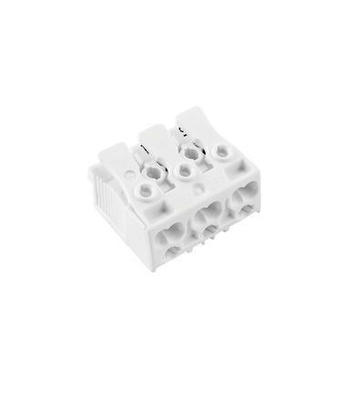 Svorkovnice SLK 3/3 (bez potisku) pro svítidla, bezšroubová, PC, bílá /88710328, ELEMAN 75 (750 ks)