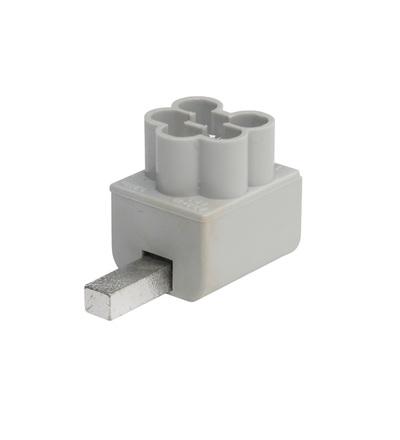 Svorka připojovací AS-3x16 SNS rozbočná, jazýček/kolík, 3x16mm2, 1mod. / 2010804, ELEMAN 79501