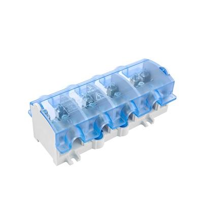 Svorkovnice stoupací OBL 25/16-4, krytá, na DIN/panel, 4pól., každý pól 1x 25mm2 a 4x16mm2, ELEMAN 872