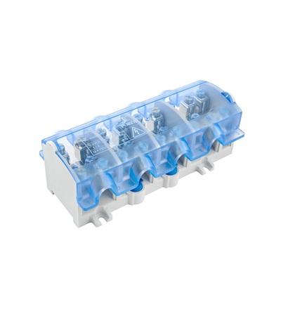 Svorkovnice stoupací OBL 35/25-4, krytá, na DIN/panel, 4pól., každý pól 1x 35mm2 a 4x25mm2, ELEMAN 874