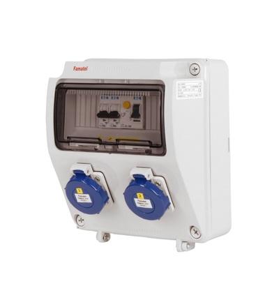 FAMATEL v1156-6kA - ZSF20000000.1 /3957 zásuvková skříň IP65 jištěná s chráničem 25/2/003 v1156-6kA