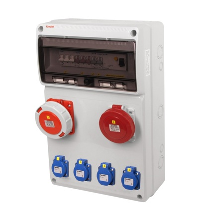 FAMATEL v1180 - ZSF40001010.1 /3952 zásuvková skříň IP54 jištěná s chráničem 63/4/003 v1180