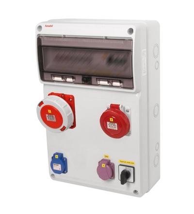 FAMATEL v2010 - ZSFT11100010.1 /3952 zásuvková skříň IP54 jištěná s chráničem 63/4/003 v2010