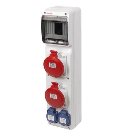 FAMATEL v266 - ZSF20002000.V /3950 zásuvková skříň IP44 pouze vydrátovaná v266