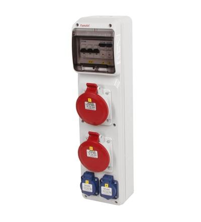 FAMATEL v268-6kA - ZSF20002000.0 /3950 zásuvková skříň IP44 jištěná bez chrániče v268-6kA