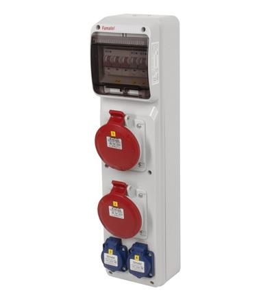 FAMATEL v268 - ZSF20002000.0 /3950 zásuvková skříň IP44 jištěná bez chrániče v268