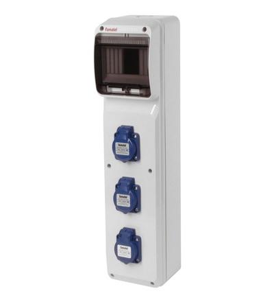 FAMATEL v272 - ZSF30000000.V /3950 zásuvková skříň IP54 pouze vydrátovaná v272