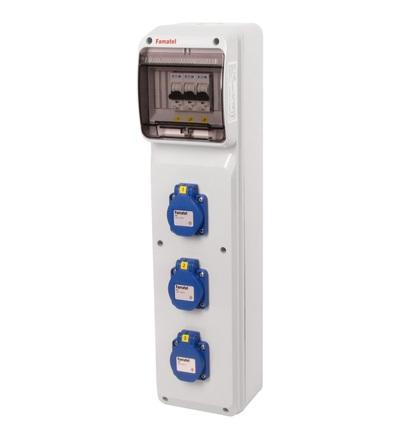 FAMATEL v275-6kA - ZSF30000000.0 /3950 zásuvková skříň IP54 jištěná bez chrániče v275-6kA