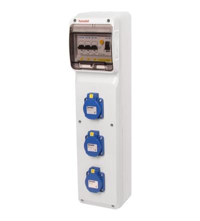 FAMATEL v279-6kA - ZSF30000000.1 /3950 zásuvková skříň IP54 jištěná s chráničem 25/2/003 v279-6kA