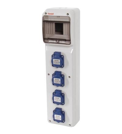 FAMATEL v281 - ZSF40000000.V /3950 zásuvková skříň IP54 pouze vydrátovaná v281