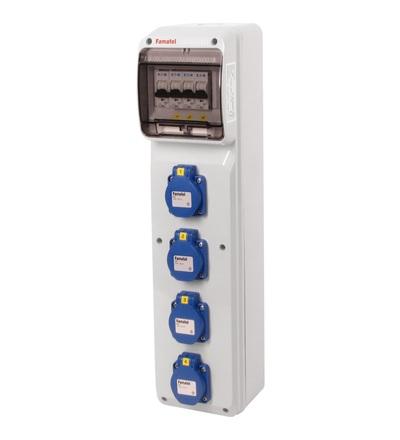 FAMATEL v285-6kA - ZSF40000000.0 /3950 zásuvková skříň IP54 jištěná bez chrániče v285-6kA