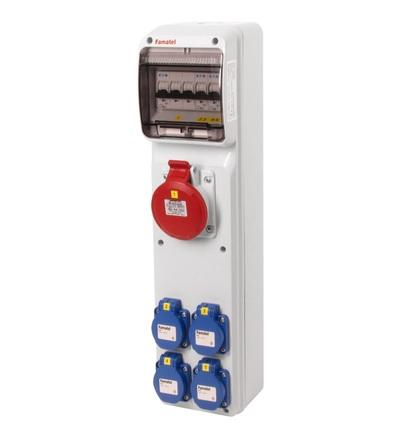 FAMATEL v292-6kA - ZSF40100000.0 /3950 zásuvková skříň IP44 jištěná bez chrániče v292-6kA