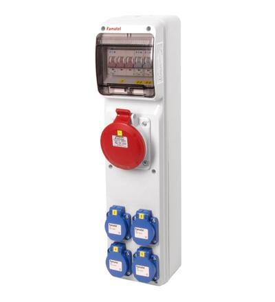 FAMATEL v297 - ZSF40001000.0 /3950 zásuvková skříň IP44 jištěná bez chrániče v297
