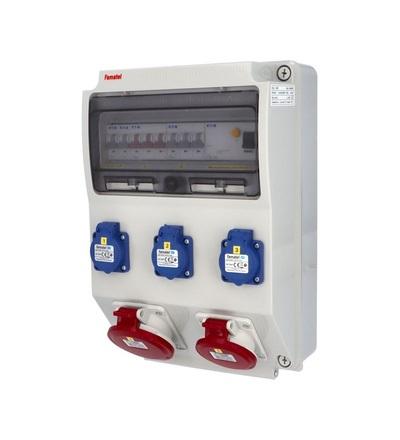 FAMATEL v325 - ZSF30101000.1 /3959 zásuvková skříň IP44 jištěná s chráničem 40/4/003 v325