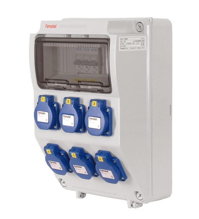 FAMATEL v371 - ZSF60000000.0 /3958 zásuvková skříň IP54 jištěná bez chrániče v371