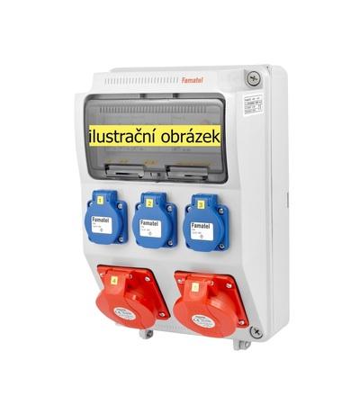 FAMATEL v516-6kA - ZSF30200000.0 /3958 zásuvková skříň IP44 jištěná bez chrániče v516-6kA