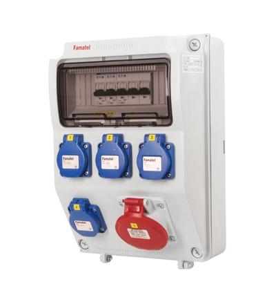 FAMATEL v563-6kA - ZSF40100000.0 /3958 zásuvková skříň IP44 jištěná bez chrániče v563-6kA