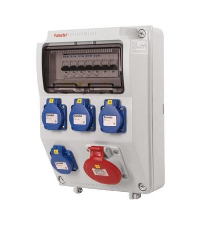 FAMATEL v565-6kA - ZSF40100000.0 /3958 zásuvková skříň IP44 jištěná bez chrániče v565-6kA