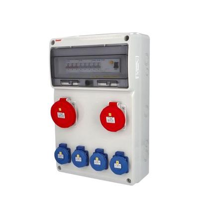 FAMATEL v6256 - ZSF40101000.1 /3952 zásuvková skříň IP65 jištěná s chráničem 40/4/003 v6256