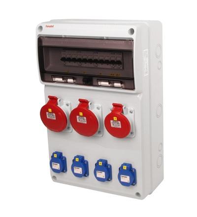 FAMATEL v630-6kA - ZSF40102000.0 /3952 zásuvková skříň IP44 jištěná bez chrániče v630-6kA
