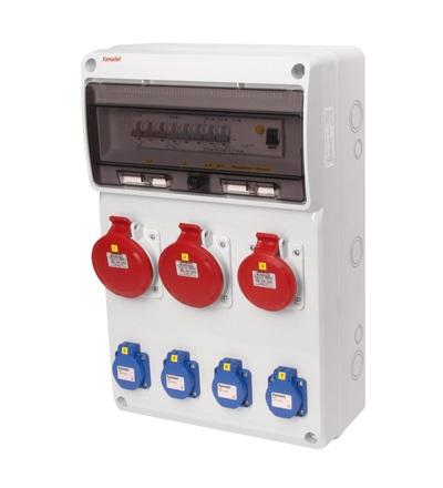 FAMATEL v632 - ZSF40102000.1 /3952 zásuvková skříň IP44 jištěná s chráničem 40/4/003 v632