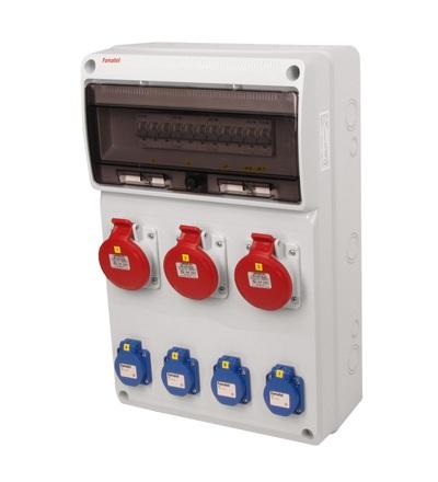 FAMATEL v665 - ZSF40300000.0 /3952 zásuvková skříň IP44 jištěná bez chrániče v665