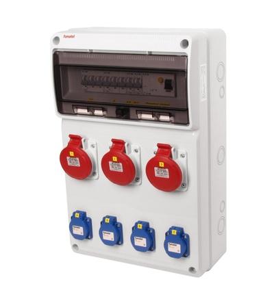 FAMATEL v667 - ZSF40300000.1 /3952 zásuvková skříň IP44 jištěná s chráničem 40/4/003 v667