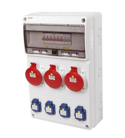 FAMATEL v669 - ZSF40003000.0 /3952 zásuvková skříň IP44 jištěná bez chrániče v669