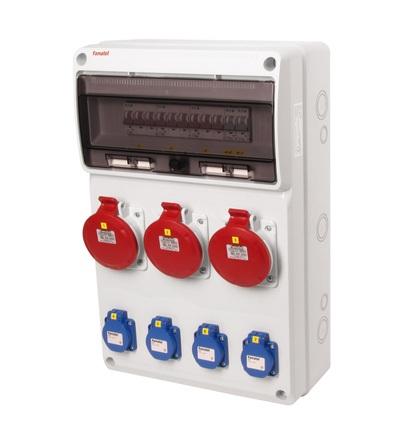 FAMATEL v670-6kA - ZSF40003000.0 /3952 zásuvková skříň IP44 jištěná bez chrániče v670-6kA