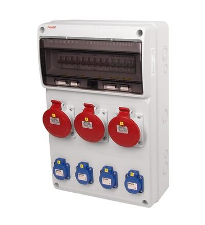 FAMATEL v671 - ZSF40003000.0 /3952 zásuvková skříň IP44 jištěná bez chrániče v671