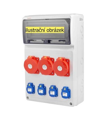 FAMATEL v672-6kA - ZSF40003000.1 /3952 zásuvková skříň IP44 jištěná s chráničem 40/4/003 v672-6kA