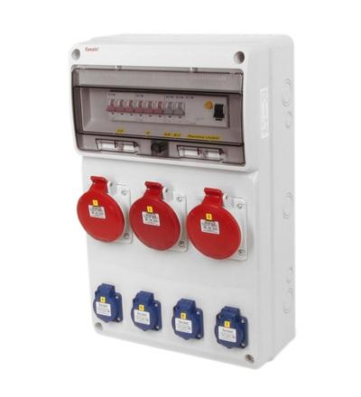 FAMATEL v673 - ZSF40003000.1 /3952 zásuvková skříň IP44 jištěná s chráničem 63/4/003 v673