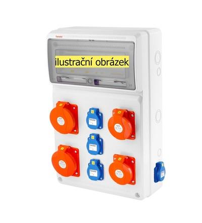 FAMATEL v676-6kA - ZSF40202000.0 /3952 zásuvková skříň IP44 jištěná bez chrániče v676-6kA