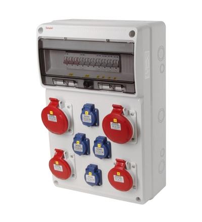 FAMATEL v676 - ZSF40202000.0 /3952 zásuvková skříň IP44 jištěná bez chrániče v676