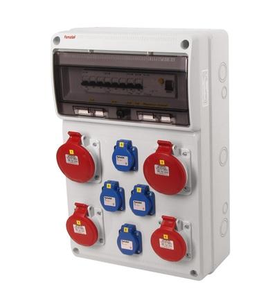 FAMATEL v679-6kA - ZSF40202000.1 /3952 zásuvková skříň IP44 jištěná s chráničem 40/4/003 v679-6kA