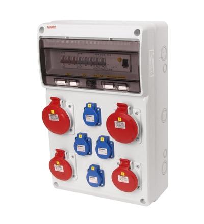 FAMATEL v679 - ZSF40202000.1 /3952 zásuvková skříň IP44 jištěná s chráničem 40/4/003 v679