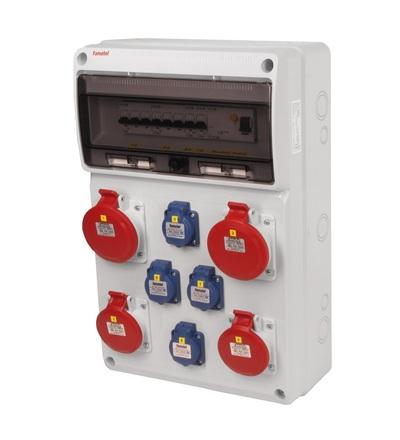 FAMATEL v680-6kA - ZSF40202000.1 /3952 zásuvková skříň IP44 jištěná s chráničem 63/4/003 v680-6kA
