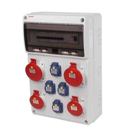 FAMATEL v680 - ZSF40202000.1 /3952 zásuvková skříň IP44 jištěná s chráničem 63/4/003 v680