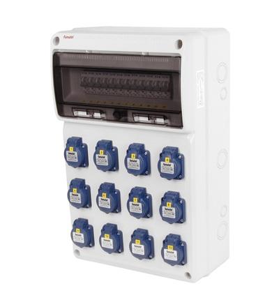 FAMATEL v790-6kA - ZSF120000000.0 /3952 zásuvková skříň IP54 jištěná bez chrániče v790-6kA