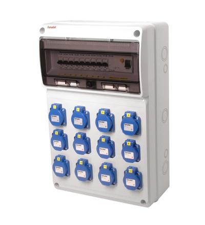 FAMATEL v792-6kA - ZSF120000000.1 /3952 zásuvková skříň IP54 jištěná s chráničem 40/4/003 v792-6kA